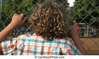 Young Boy With Curly Hair