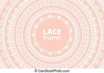 Lace net with heart pattern