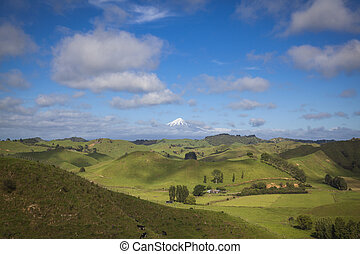 Mount Taranaki in New Zealand