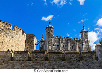 Tower of London historic castle on the north bank of the...