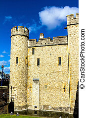 Historic building at Tower of London historic castle on the...