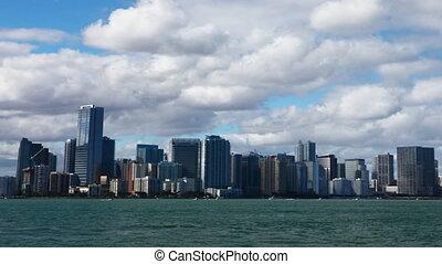 Miami, Florida skyline, a timelapse - A Miami, Florida...