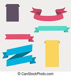 Colorful and decorated paper banners