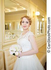 Bride in the bright room