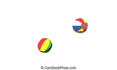 Japanese Paper Balloons On White Background. 3DCG toon...