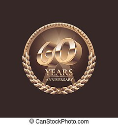 60 years anniversary vector icon 60th celebration design...