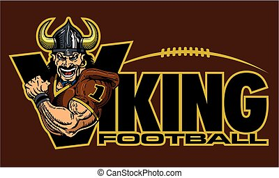 viking football - muscular viking football team design for...