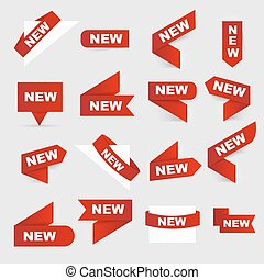 Sign New. New signs. Isolated vector illustration.