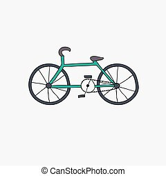 and draw bike Vector illustration