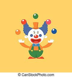 Happy Clown Juggling