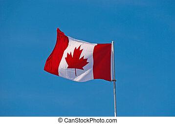 Stoff, Blasen, kanadier,  -, Fahne, neu,  Wind