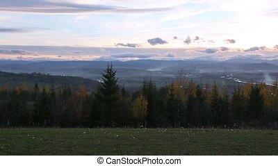 Autumn Country Landscape.