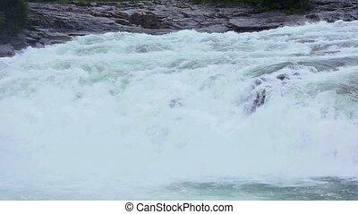 Mountain River with Cascade.