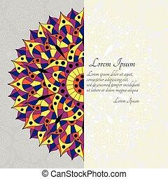 Pattern with chakra manipura