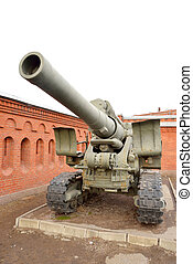 Old howitzer high power - Howitzer field artillery gun from...