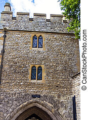 Historic Bloody Tower at Tower of London historic castle on...