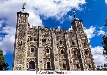 Historic The White Tower at Tower of London historic castle...