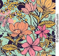 Floral seamless pattern - Beautiful vector seamless pattern...