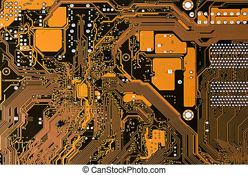 Computer circuit mainboard - Close-up photo of circuit board...