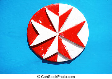eight pointed cross - wooden eight pointed cross painted in...