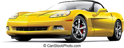 American luxury sports car - High quality illustration of...