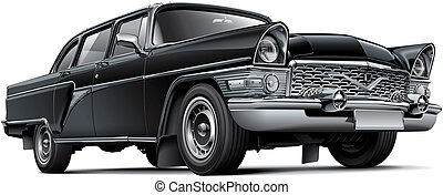 Soviet luxury car - High quality illustration of Soviet...