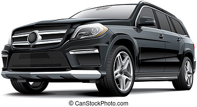 German full-size luxury SUV - High quality illustration...