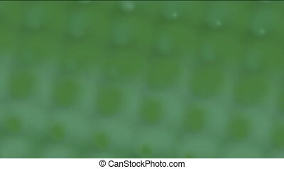 rotation pattern in a green blur fo
