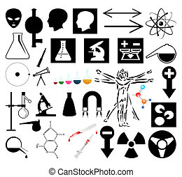 Collection of scientific pictures. A vector illustration