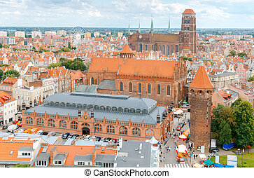Gdansk The historic center of the old town - View of Gdansk...