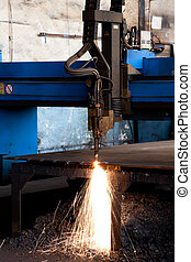 Industrial machinery - Heavy machinery at an industrial site...