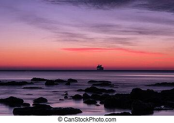 before sunrise over the sea