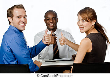 Group of Professionals - An attractive young group of...