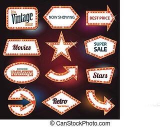 Retro banner retro motel sign