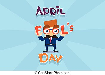 Fool Day April Holiday Greeting Card Banner Comic Business...