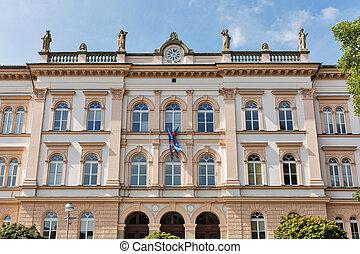 Maribor secondary school building in Slovenia - Maribor...