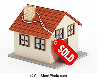 House with sold tag