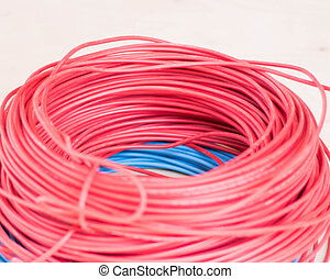 electic wire - Roll of red and blue electic wire