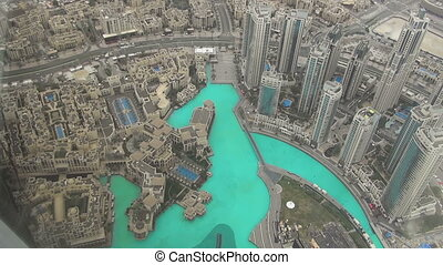 Aerial view of Downtown Dubai - DUBAI, UNITED ARAB EMIRATES...