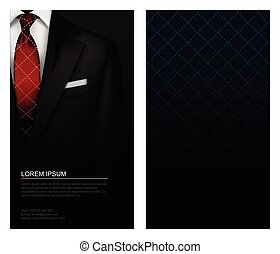 Suit vector background with tie