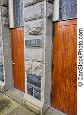 Old Historic Church Chapel Doors