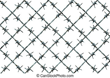 Barbed Wire Fence Pattern - Barbed wire fence pattern...