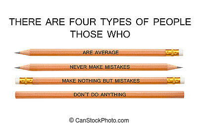 Classifying people there are four types.