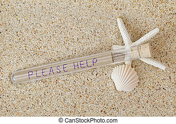 Message in a bottle style with cork lid and wordings Please...
