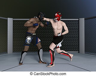 Boxer - Image of fighting boxer.