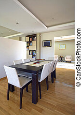 House interior - Modern house interior with white furniture...