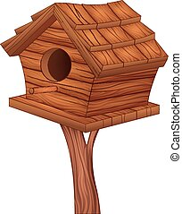 Illustration of bird house