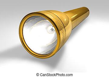 Golden flashlight  - Golden flashlight
