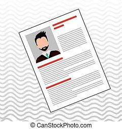 curriculum vitae design, vector illustration eps10 graphic