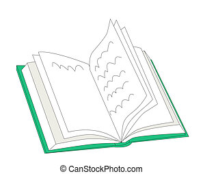 open book - Open book on a white background.